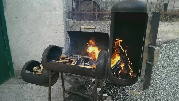 Как сделать гриль своими руками из газовых баллонов 3