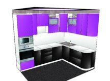 Планирование кухни самостоятельно: 3D конструктор кухни